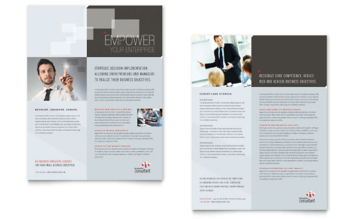 Corporate Business Datasheet Template - Microsoft Office
