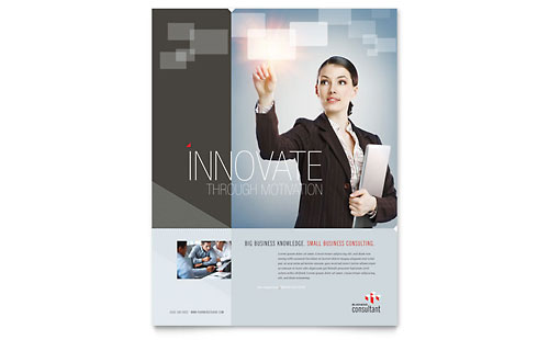 Corporate Business Flyer Template - Microsoft Office
