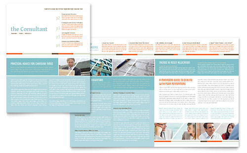 Management Consulting Newsletter Template - Microsoft Office