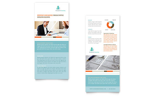 Management Consulting Rack Card Template - Microsoft Office