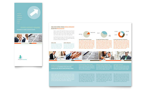 Management Consulting Tri Fold Brochure Template - Microsoft Office