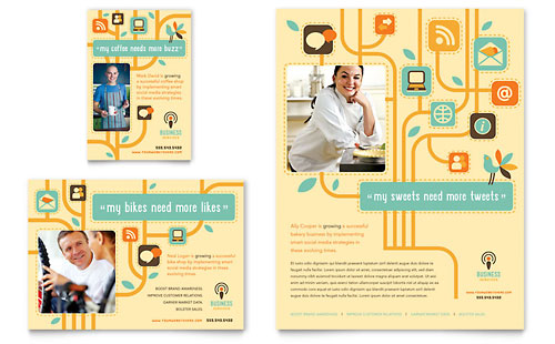 Business Services Flyer & Ad Template - Microsoft Office
