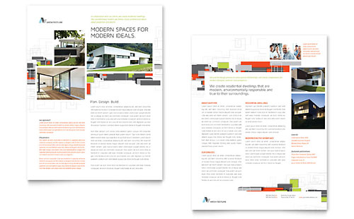 Architectural Design Datasheet - Microsoft Office Template