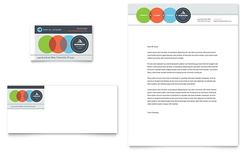 Business Analyst Business Card & Letterhead - Microsoft Office Template