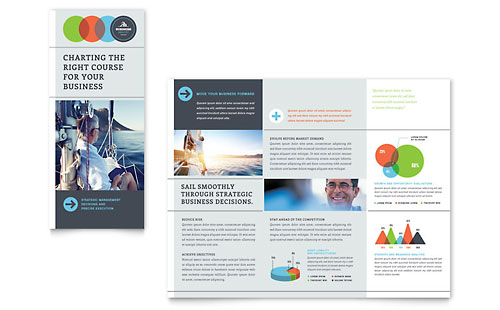 Business Analyst Tri Fold Brochure Template - Microsoft Office