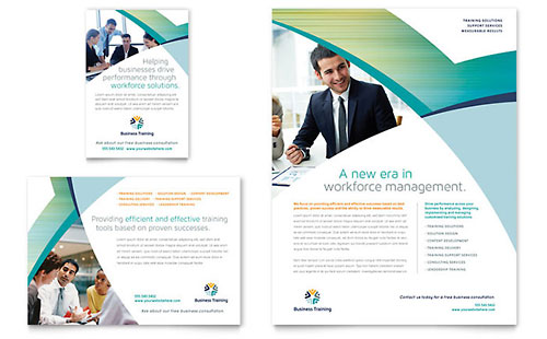 Business Training Flyer & Ad - Microsoft Office Template