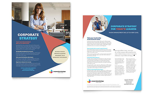 Corporate Strategy Datasheet Template Design
