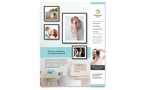 Photographer - Sample Leaflet Template - Word & Publisher