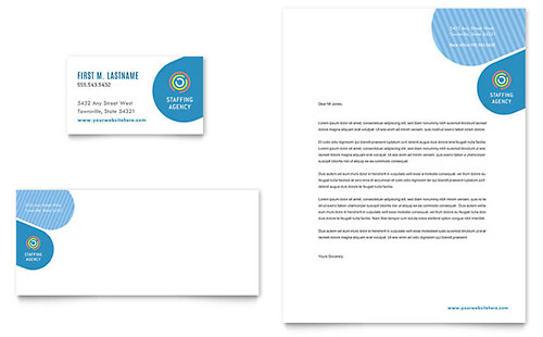 Employment Agency Business Card & Letterhead Template - Microsoft Office