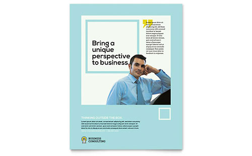 Business Consultants Flyer Template - Microsoft Office