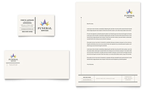 Funeral Services Business Card & Letterhead - Microsoft Office Template