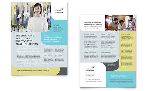 Small Business Consultant Datasheet Template - Microsoft Office