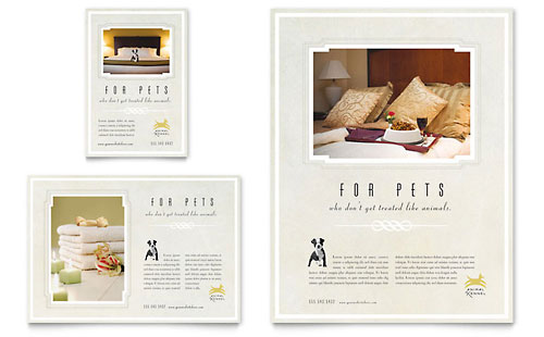 Pet Hotel & Spa Flyer & Ad Template - Microsoft Office