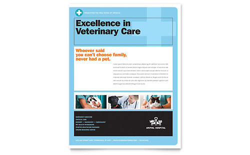 Animal Hospital Flyer - Microsoft Office Template