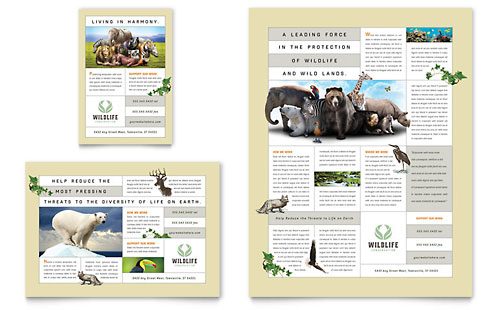 Nature & Wildlife Conservation Flyer & Ad Template - Microsoft Office