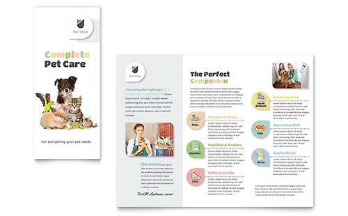 Pet Store Brochure Template - Microsoft Office