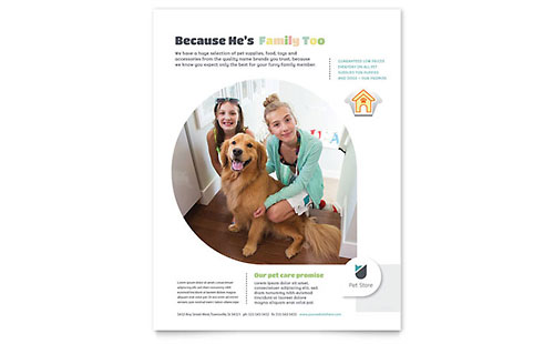Pet Store Flyer Template - Microsoft Office