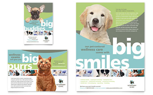 Vet Clinic Flyer & Ad Template - Microsoft Office