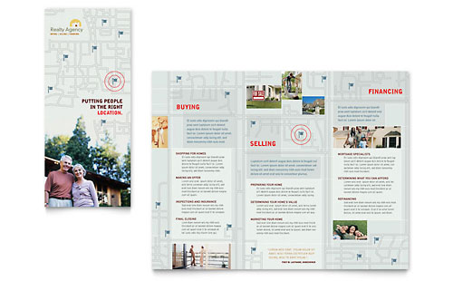 Real Estate Agent & Realtor Brochure Template - Microsoft Office
