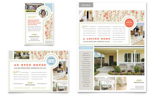 Real Estate Home for Sale Flyer & Ad - Word Template & Publisher Template