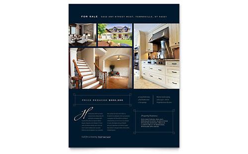 Luxury Home Real Estate Flyer Template - Microsoft Office