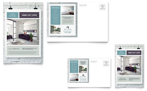 Urban Loft Postcard - Microsoft Office Template