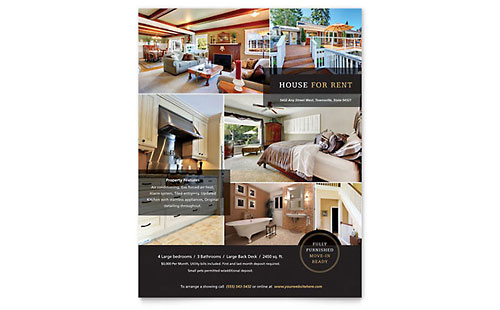 rental property flyer template - real estate flyer templates word publisher
