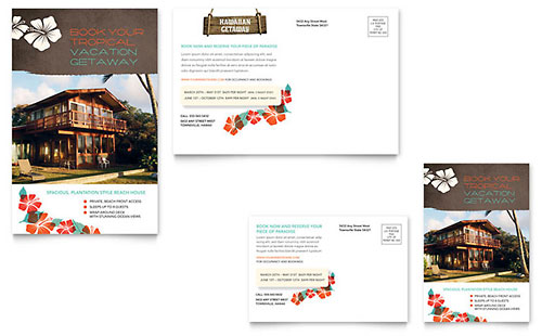 Vacation Rental Postcard Template - Microsoft Office