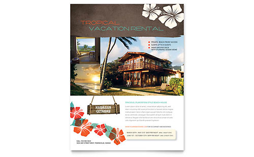 Vacation Rental Flyer Template - Microsoft Office