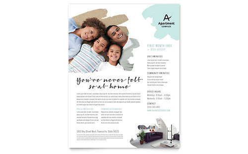 Apartment Flyer - Microsoft Office Template