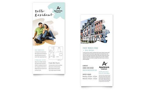 Apartment Rack Card Template Design