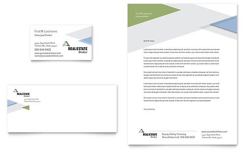 Realtor Business Card & Letterhead Template - Microsoft Office