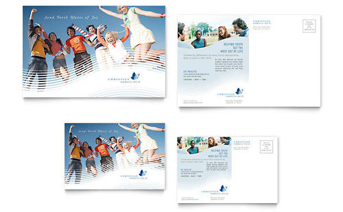 Christian Ministry Postcard - Word Template & Publisher Template