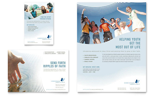 Christian Ministry Flyer & Ad - Microsoft Office Template