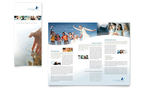 Christian Ministry Tri Fold Brochure Template - Microsoft Office