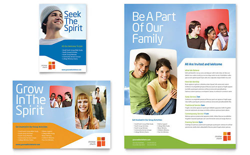 Church Youth Ministry Flyer & Ad Template - Microsoft Office
