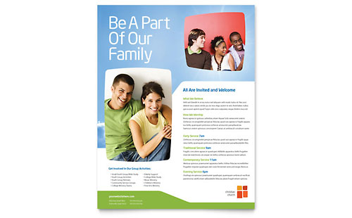 Church Youth Ministry Flyer Template Design