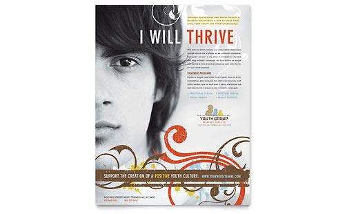 Church Youth Group Flyer - Microsoft Office Template