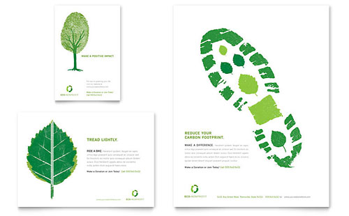 Environmental Non Profit Flyer & Ad Template - Microsoft Office
