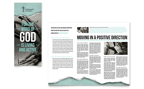 Bible Church Brochure Template - Microsoft Office