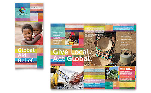 Humanitarian Aid Organization Brochure - Microsoft Office Template
