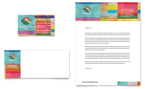 Humanitarian Aid Organization Business Card & Letterhead - Microsoft Office Template