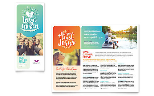 Church - Sample Pamphlet Template - Word & Publisher