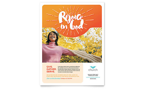Church Flyer - Word Template & Publisher Template