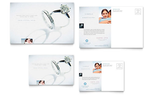 Jeweler & Jewelry Store Postcard - Microsoft Office Template