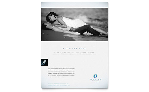 Jeweler & Jewelry Store Flyer - Microsoft Office Template
