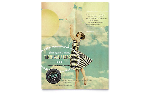 Vintage Clothing Flyer Template - Microsoft Office