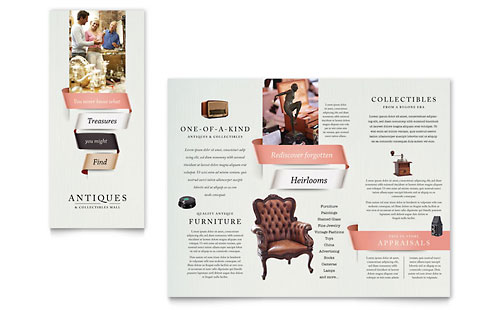 Antique Mall Brochure Template - Microsoft Office