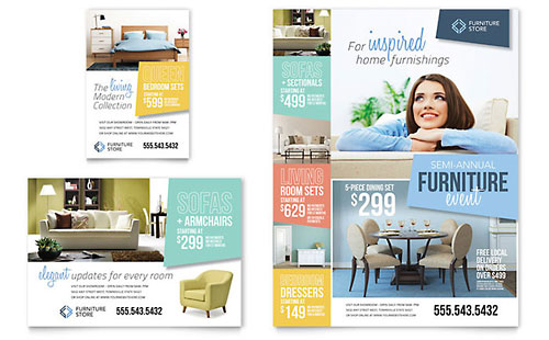 Home Furnishings Flyer & Ad Template - Microsoft Office
