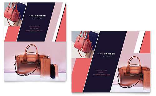 Designer Handbag - Sample Poster Template - Word & Publisher